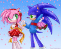 Sonic And Amy Valentines